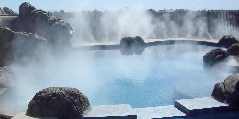 Декоративный туман, водопады, пруды, аквапарки